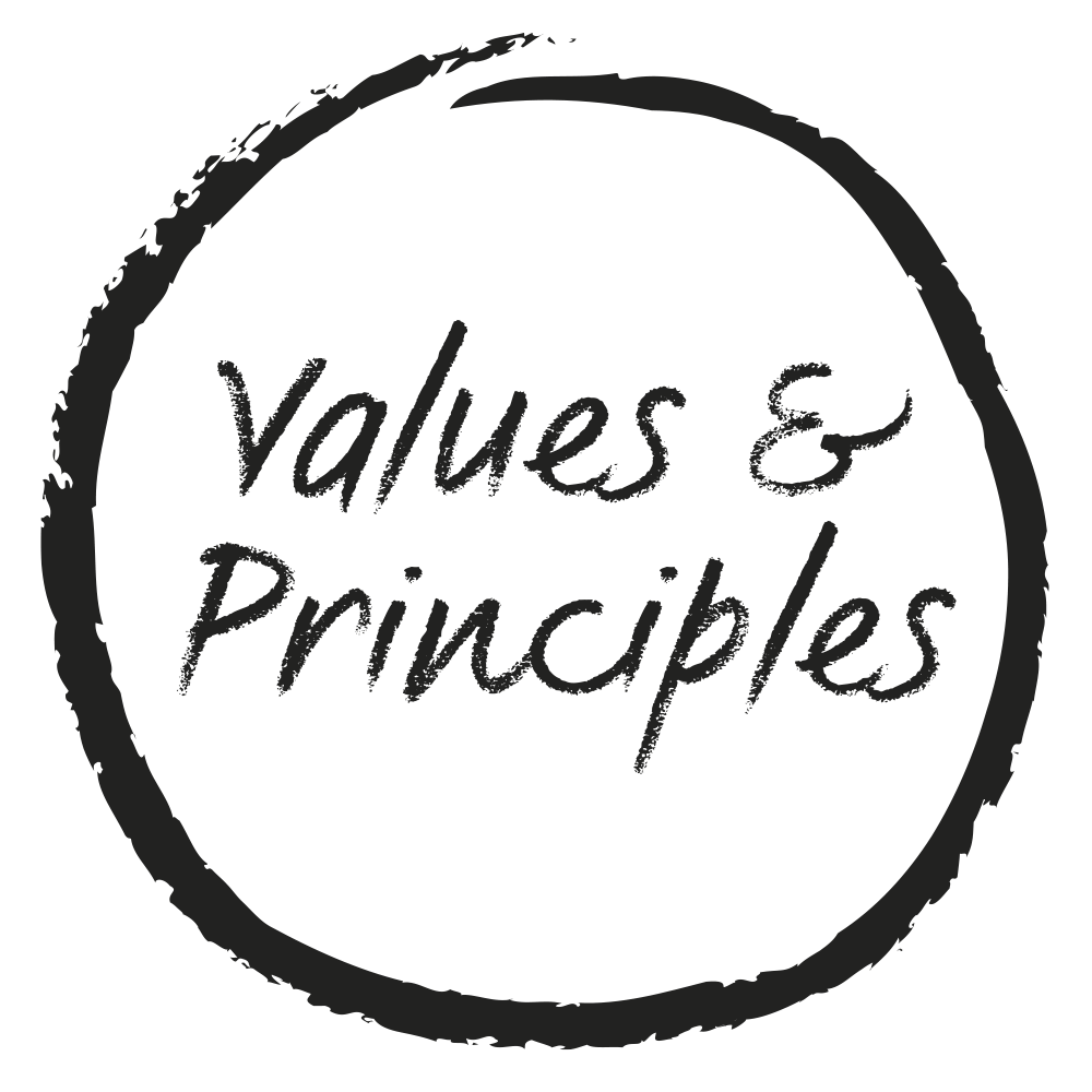 Values and principles.